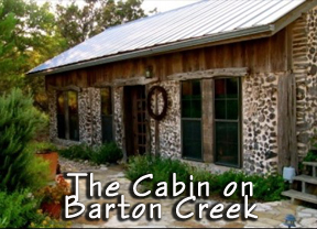 cabin on barton creek Logo