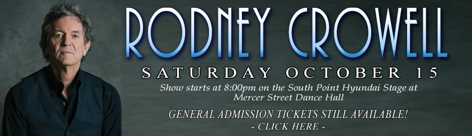 Rodney Crowell - GA TICKETS slide